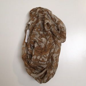 Charming Charlie gold Filigree Wrap Scarf